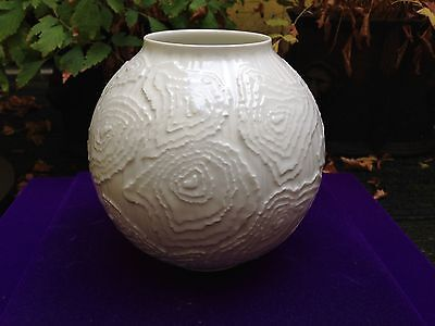 AK Emperor Germany, Fine Relief Vase, White Glazed Porcelain