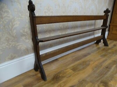 Most Stunning Fabulous antique Victorian Ecclesiastical shoe rack pew hall tidy
