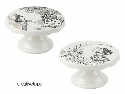 Alice in Wonderland Set of 2 Mini Cake Stand Porcelain from the V&A Range