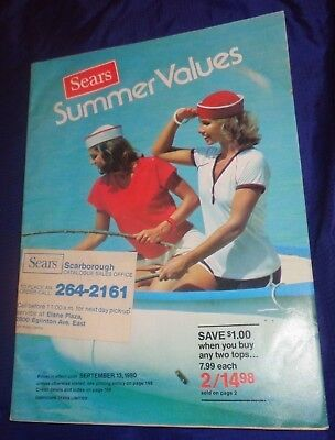 AM109 Vtg Sears Summer Sale 1980 Catalog