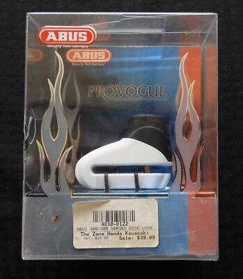 ABUS MOTORCYCLE SECURITY PROVOGUE 300 C/SB GRAND PRIX WHITE BLACK 5mm NOS MINT