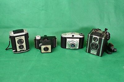 Mixed Set of Four Vintage Cameras - Brownie,  Coronet, Baldixette & Coronet