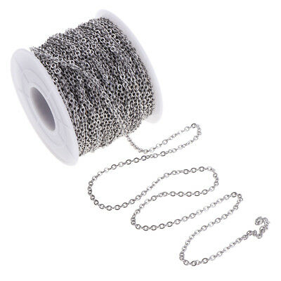 13yd Stainless Steel 2mm Ring Cable Link Chain Bulk for DIY Jewelry Making