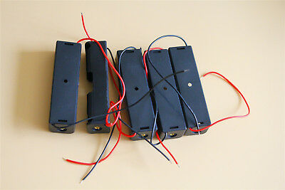 5Pcs Battery Holders Empty 1 Cell w Wire Leads for 18650 Li Batteries