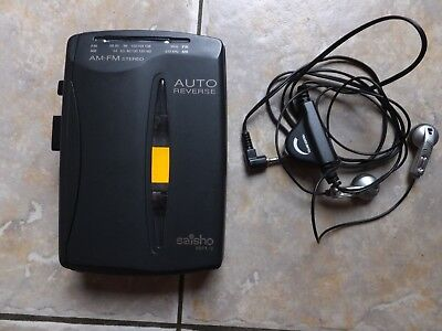 Saisho BBFX-12 Personal Stereo Cassette Player with AM-FM Stereo radio. WORKING