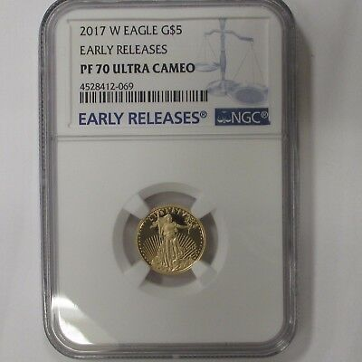 2017 W 110 Gold American Eagle Ngc Pf 70 Ultra Cameo Early Release