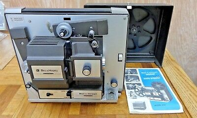 Bell&Howell Super 8 Movie Projector model 456 working with lamp