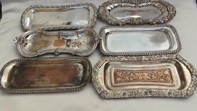 Lovely Collection Of 6 X Georgian Old Sheffield Plate Silver Mount Snuffer Trays