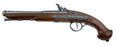 18th Century Engraved Flintlock Pistol Replica