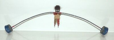 GT05 - unusual wire balancing toy with knitted man. 275mm wide
