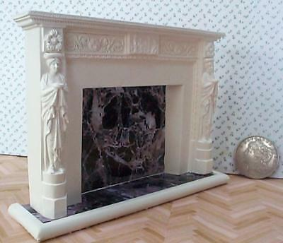 dollshouse adams fireplace mantle 1/12 scale miniature decorative