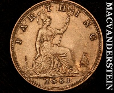 Great Britain: 1881 Farthing!! !! #a8742