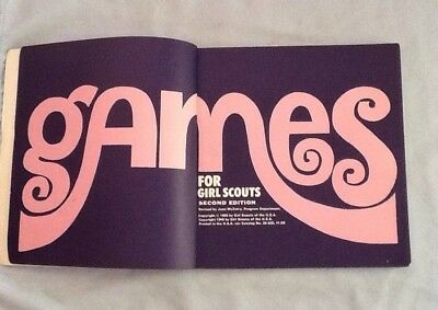 GAMES for GIRL SCOUTS 1969 Ed, Guessing Singing Relays Friendship CHRISTMAS GIFT