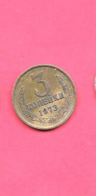 RUSSIA RUSSIAN Y128a 1973 VF-VERY FINE-NICE OLD VINTAGE CIRCULATED 3 KOPEKS COIN