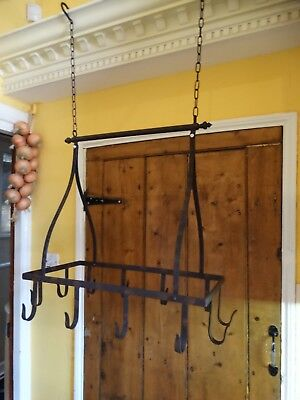 Lovely Antique Victorian Style wrought iron hanging meat hooks, kitchen decor