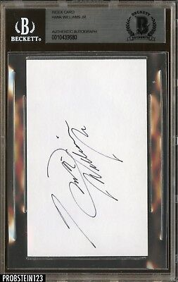 Hank Williams Jr. Musician Signed Index Card AUTO Autograph BGS BAS