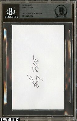 Larry Flynt LFP Publisher Signed Index Card AUTO Autograph BGS BAS