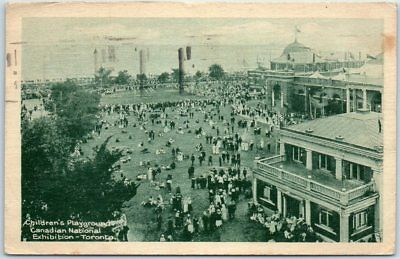 "1921 Toronto Postcard ""Children's Playgrounds, Canadian National Exhibition"""