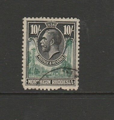Northern Rhodesia 1925 10/- Used SG 16 but