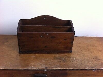 DECORATIVE SMALL ANTIQUE WOODEN DESK / LETTER STAND 8.5 inches a/f