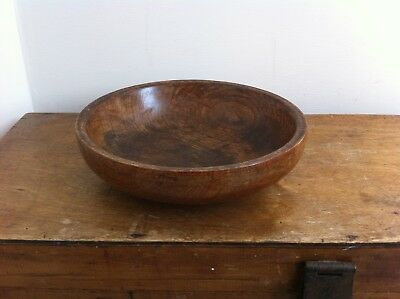 DECORATIVE VINTAGE WOODEN BOWL 8.7 inches