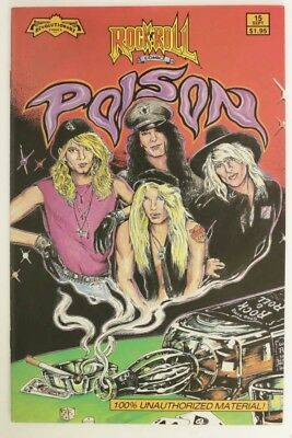 P034. ROCK N'ROLL COMICS #15 Revolutionary 8.0 VF (1990) Poison, 1st Color Issue