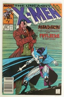 P020. UNCANNY X-MEN #256 Marvel 7.5 VF- (1989) Debut of Ninja Psylocke Costume`