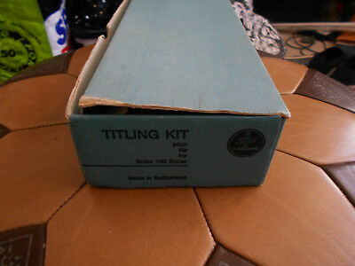 Vintage Camera Equipment Titling Kit By Bolex With Box
