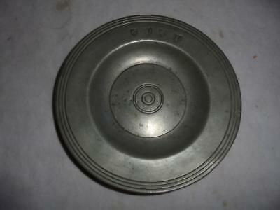 Small Antique Pewter Nut Dish Marked S.orford With 2 Thistle & 2 Lion Touchmarks