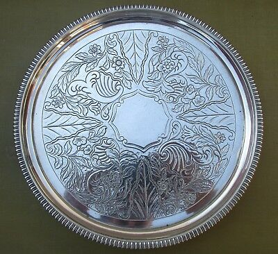 Good Antique Georgian Sterling silver tray, 490 grams, 1806, 8 3/8 inches