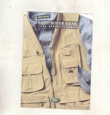 1996 Land Rover US Clothing Shirt Pants Belts Hats Ties Luggage Brochure wz4741