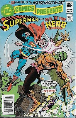 """DC Comics Presents No.44 / 1982 Superman and Dial """"H"""" for Hero"""