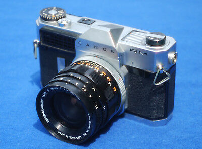 Canon Canonflex RM Camera with 35mm f2.5 Lens & Case 1962