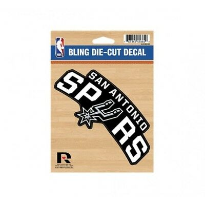 san antonio spurs glitter team logo nba basketball car die cut vinyl decal