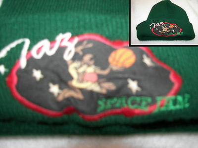Taz Looney Tunes Space Jam   stocking cap 1996 adult embroidered patch