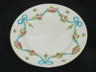 Antique Crown Staffordshire Replacement China Side Plate F4547 BLUE BOW 1910