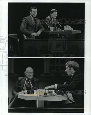 1992 Press Photo Television Host Phil Donahue with Johnny Carson and Bob Hope