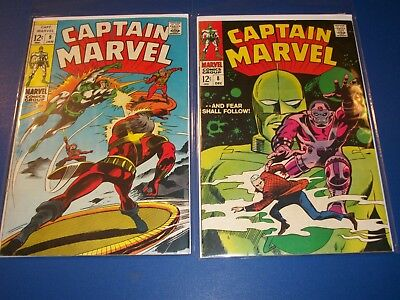 Captain Marvel #8,9 Silver age lot of 2