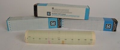 Lot of 3 NEW Graphic Controls Corp. 240514 11 Chart Recorder Paper