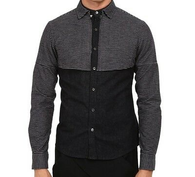 Private Stock NEW Black Mens Size Small S Button Down Shirt $558 SALE #574