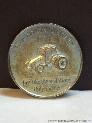 Vintage Ertl Tractor Token Company Building Like the Real Thing 1997 New Holland