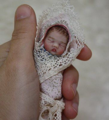 ~ OOAK realistic sweet Polymer Clay Hand Sculpted Baby Girl Art Doll by YivArt ~