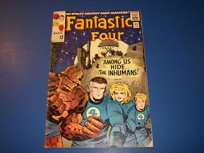 Fantastic Four #45 Silver Age 1st Inhumans Huge Key Very Rare and Hot Solid VGF