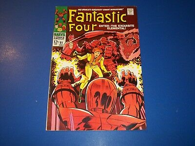 Fantastic Four #81 Silver Age Comic Book Crystal Joins VF- Inhumans Wow