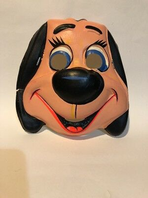 Vtg Underdog Collegeville Costume Mask 1960s Ben Cooper Rare Cartoon Plastic Old