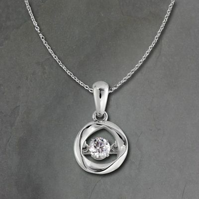 Pendant Dancing Stone with Chain 925er Silver DSK104W [Imppac]