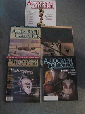 "~""THE AUTOGRAPH COLLECTOR"" Lot of 5 1992 and 1993 Issues EX+ Condition~"