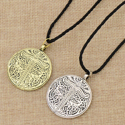 Tree of Life Pendant Necklace Vintage Viking Jewelry Nordic Amulet Silver Bronze