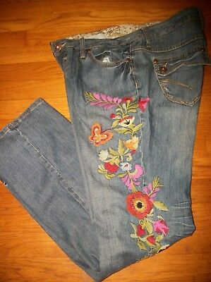 9a7042e5dd7 Zana Di Butterfly   Floral Embroidered Bootcut Denim Jeans Women s Plus ...
