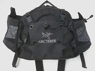 "ARCTERYX LEAF ""Q10"" Lumbar Day Waist Pack, Black, Hypalon/Ripstorm, NEU! NEW!"
